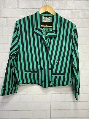 80s double breasted jacket black stripe