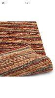 John Lewis 100% Jute Rustic Stripe Rug 180 X 120 Cm