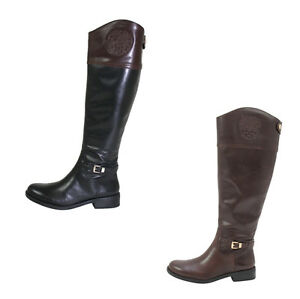 Vince Camuto Kable Women S Leather Riding Boots Wide Calf