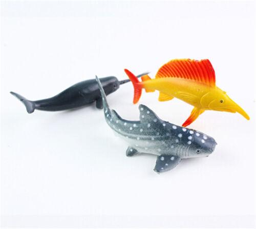 24pcs Sea Life Model Pool Fish Toy Educational Marine Animals Kids Figure GiftGS