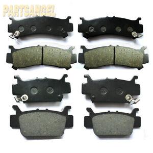 NICHE Brake Pad Kit For Honda Pioneer 1000 1000-5 06451-HL4-A01 06452-HL4-A01 Complete Semi-Metallic