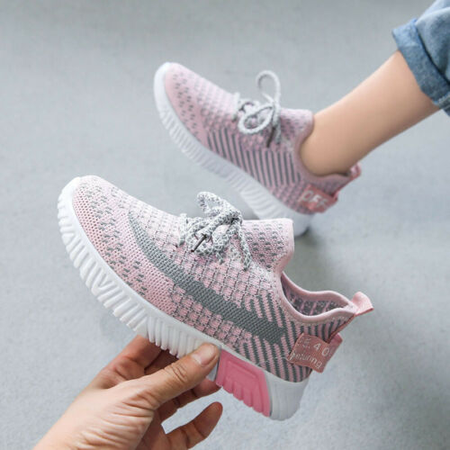 Details about  /New Kids Girls Sports Running Shoes Casual Breathable Sneakers Shoes Size US 9-3