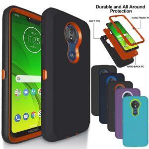 For Motorola Moto G7 Power/G7 Supra/Z4 Play Heavy Duty Shockproof Armor Case