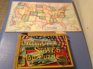 Antique 1915 Parker Brothers United States Map Puzzle | eBay