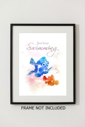 Disney ART PRINT Finding Nemo Quote illustration Wall Art Home Decor Gift