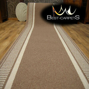 THICK-Runner-Rugs-TRENDY-beige-modern-NON-slip-Stairs-Width-67-133cm-extra-long