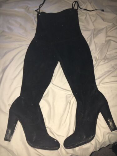 Smelly Thigh High Heel Boots