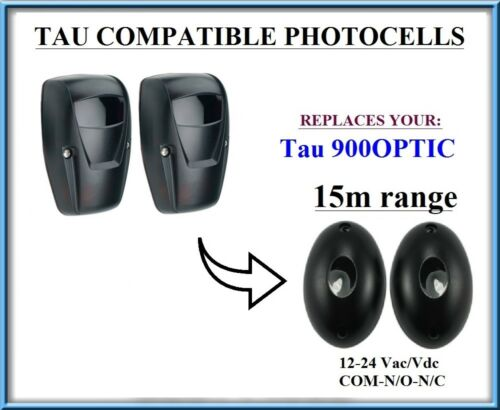 900OPTIC compatible PHOTOCELLS 12-24 VAC//DC infrared safety beam TAU 900FOTEC