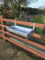 2 ' Foot Cattle Sheep Horse Gate Trough Hook Over Hang On Galv Feed Very Heavy