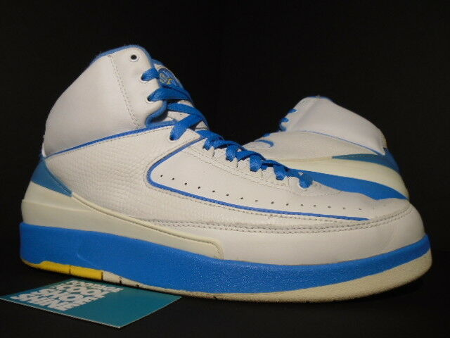 2004 Nike Air Jordan II 2 Retro CARMELO MELO ANTHONY WHITE blueE YELLOW BLACK 11
