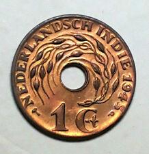 1 cent Nederlandsch Indie 1945 coin (high-grade) # 353