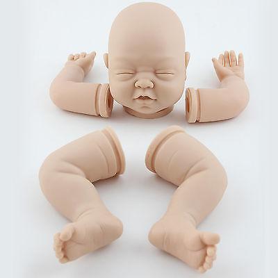 "Reborn Kits 22"" Sleeping Baby Doll Blank Soft Vinyl Head 3/4 Limbs Supplies  Gift   eBay"