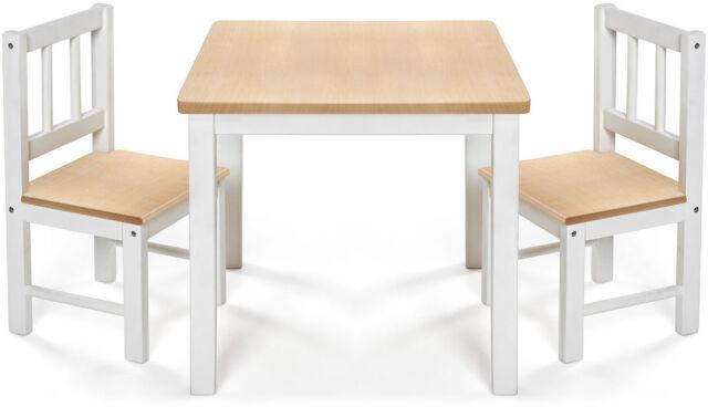 Reer Groupes de Sièges pour Enfants Eat & Jouer 1 X Table 2 X Chaise Vrai Bois