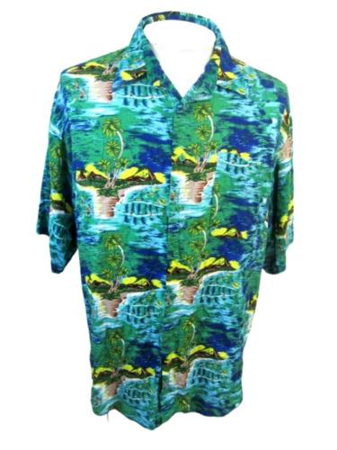 UNTIED vintage 1990s Men Hawaiian ALOHA shirt pit