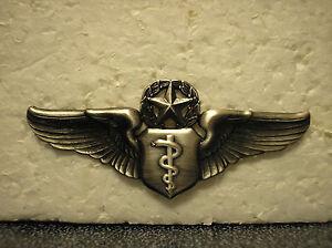 INSIGNIA USAF CHIEF FLIGHT SURGEON WINGS SEW-ON U.S