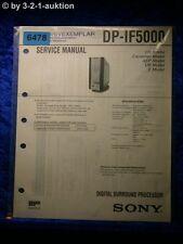 Sony Service Manual DP IF5000 Digital Surround Processor (#6478)