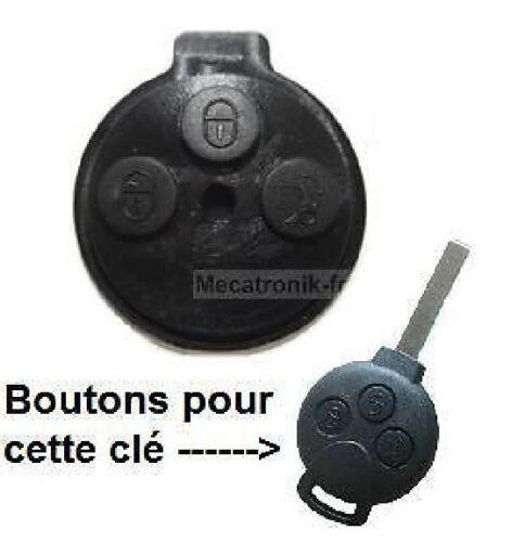 Bloc 3 Boutons pour clé telecommande SMART FORTWO 450 FORFOUR 451 ROADSTER COUPE