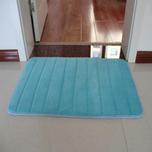 `Memory Foam Soft Bathroom Bedroom Bath Mat Floor Rug Carpet With Non Slip Back