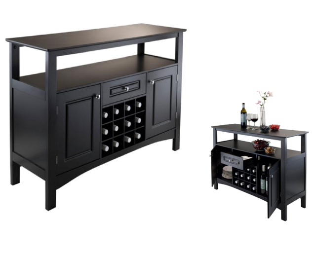 Home Bar Wine Rack Cabinet Buffet Furniture Liquor Storage Table Kitchen Island For Online