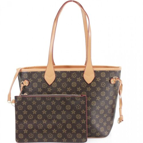 Señoras Bolsa Shopper /& Clutch Bag para Mujer Cheque Floral 2 en 1 Bolsas De Moda
