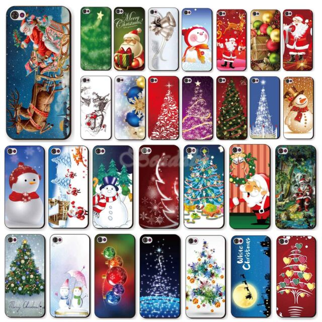 Merry Christmas Painted Phone Hard Skin Case Cover For Apple iPhone 4 4S 5 5S 5C