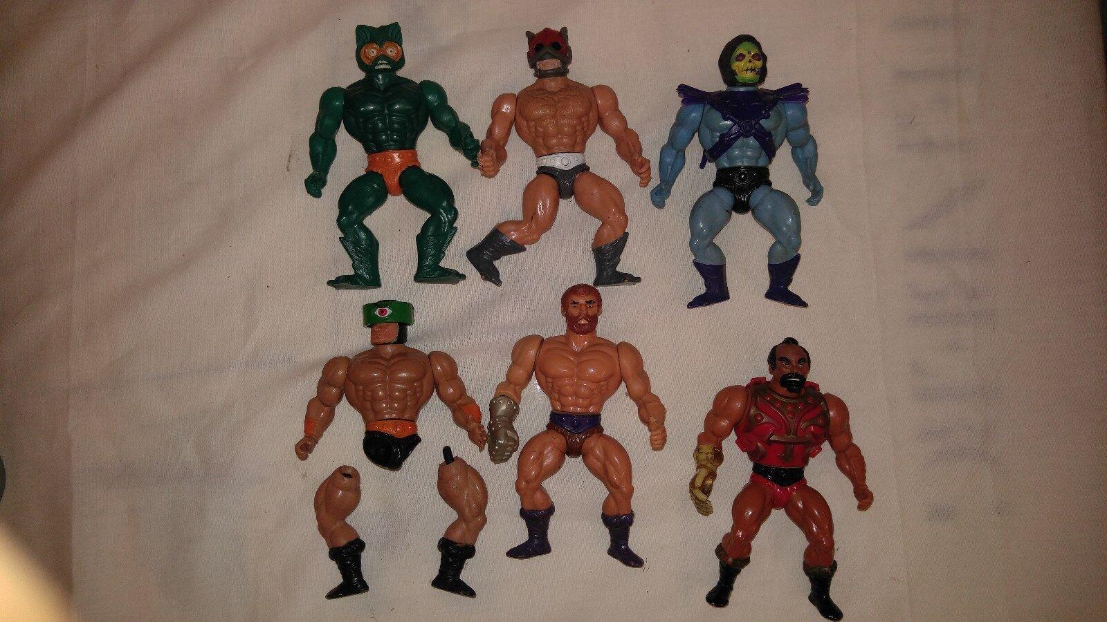 6 Masters of the Universe Lot Skeletor, Mer-man, Fisto, Zodac, Tri-Klops, Jitsu