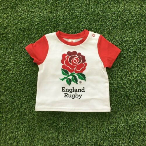 England Rugby Football Official Club Kit T-Shirt Gift Baby kids children RFU920