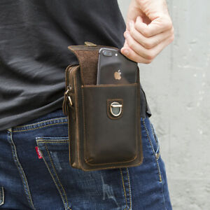 Men-039-s-Genuine-Leather-Waist-Fanny-Bags-Chest-Shoulder-Bag-Crossbody-Satchel-Pack