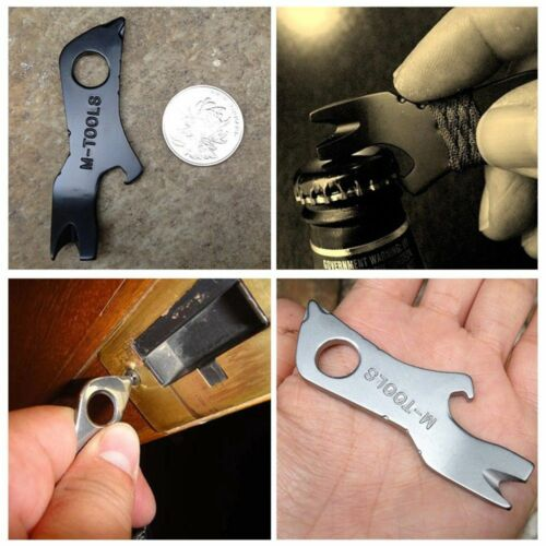 Mini Outdoor Survival multi-function Cool Screwdriver Crowbar EDC Tools Keychain