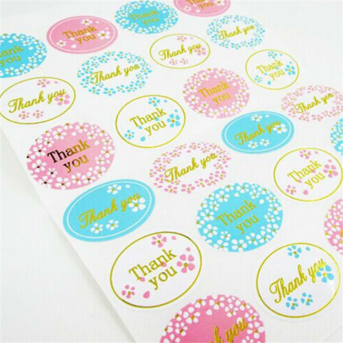 "5 sheets  120Pcs Oval /""Thank You/"" Adhesive Seal Sticker Label Envelope Decor DIY"