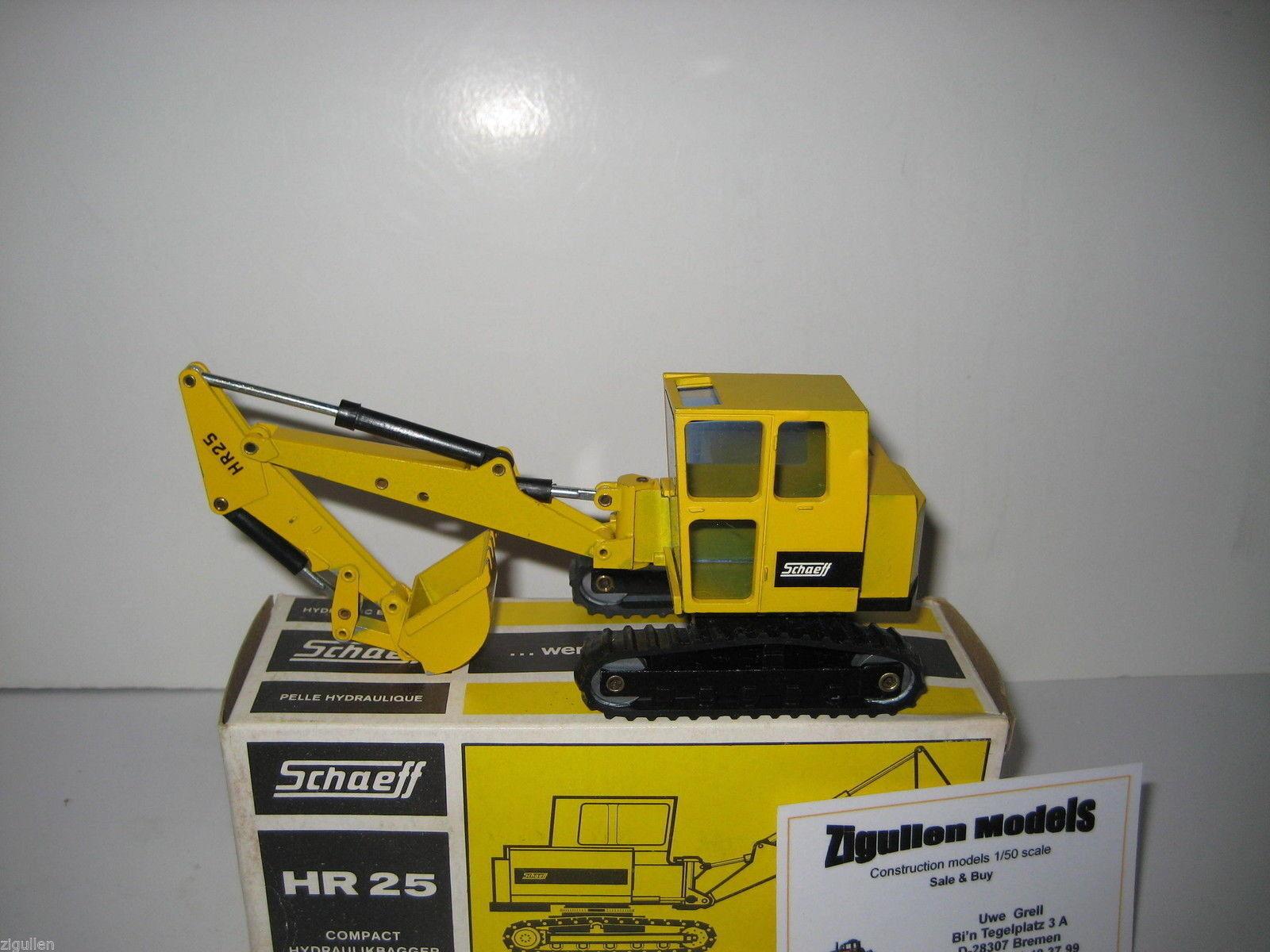Schaeff HR 25 Excavateurs tieflöffel vers à soie  107.2 NZG 1 35 neuf dans sa boîte