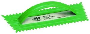 """QLT By MARSHALLTOWN 6263 10-Inch by 4-1/4-Inch Plastic Notched """"V"""" Trowel"""