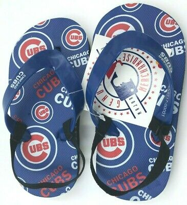 Genuine Mlb Apparel Faithful Chicago Cubs Flip Flops Youth All Sizes