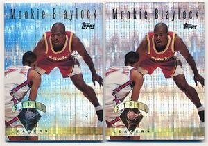 42c9558124f MOOKIE BLAYLOCK LOT OF (2) 1995 96 TOPPS  22 POWER BOOSTER HAWKS SP ...