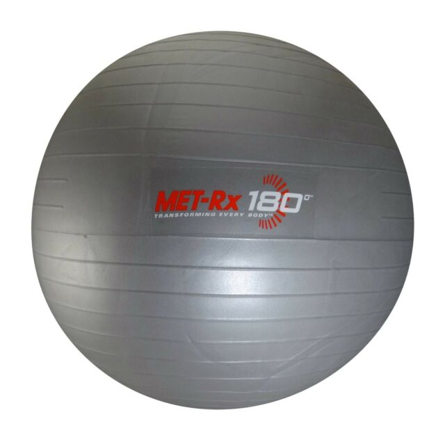 MET-RX  55cm Exercise Pilates Yoga Balance Fitness Ball With Pump
