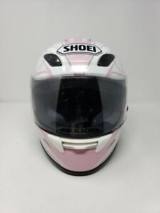 NEW-Shoei-Small-55-56-cm-6-7-8-7-RF-1000-Pink-Butterfly-Ladies-Motorcycle-Helmet