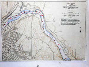 Schenectady New York Map.Color Map Erie Canal Schenectady Rexford New York U S Army Corp