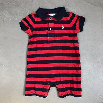 Ralph Lauren Baby Boys Polo Red Babygrow Bodysuit Romper