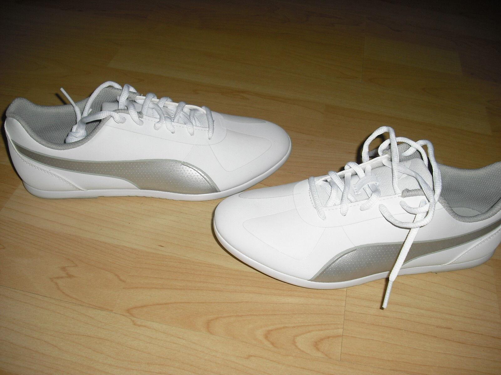 Sneaker Turnschuhe von Gr. Puma weiß grau siber Gr. von 38,5 UK 5.5 NEU 4bfca6