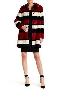 8cd0f3b1c679 New w/ Defect $695 Alice + Olivia Kinsley Oversized Stripe Faux Fur ...