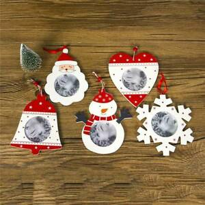 Christmas-Wooden-Hanging-Photo-Frame-Xmas-Tree-DIY-Ornaments-Pendant-Decor-MP