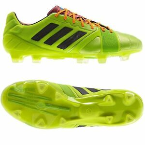 5286bec9cee3 Details about Adidas Nitrocharge 1.0 TRX FG Lime Green Performance Mens  Football Soccer Boots
