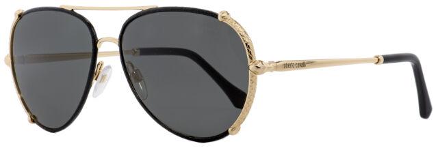 Roberto Cavalli RC731S-05B-59 Cat Eye Women's Black Frame Grey Lens Sunglasses