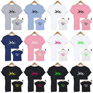 8ec83992 Me, Mini Me, Matching Set T Shirt, Family, Mummy/ Daddy/ Baby/ Baby ...