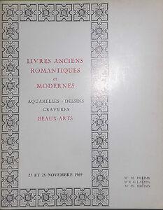1969-Catalogue-Di-Vendita-Drouot-Libri-Antichi-Romantiche-E-Moderno