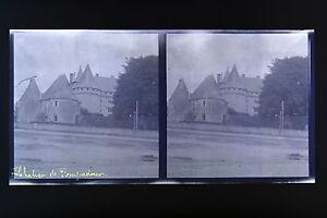 Chateau-Da-Pompadour-Correze-Auvergne-Foto-Stereo-Negativo-Su-Film-Morbido-1914