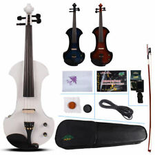 15 Inch Electric Viola Sweet Sound Solid Wood Viola Case Bow Blue Color Orchestral
