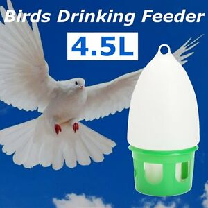 4.5L Water Dove Drink Dispenser Pigeon Birds Canary Drinker Feeder 34.5x18cm