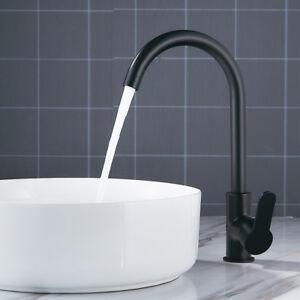 Details zu Hohe Becken Waschbecken Mischbatterien Einhebel Küche Bad  Wasserhahn Schwarz DE