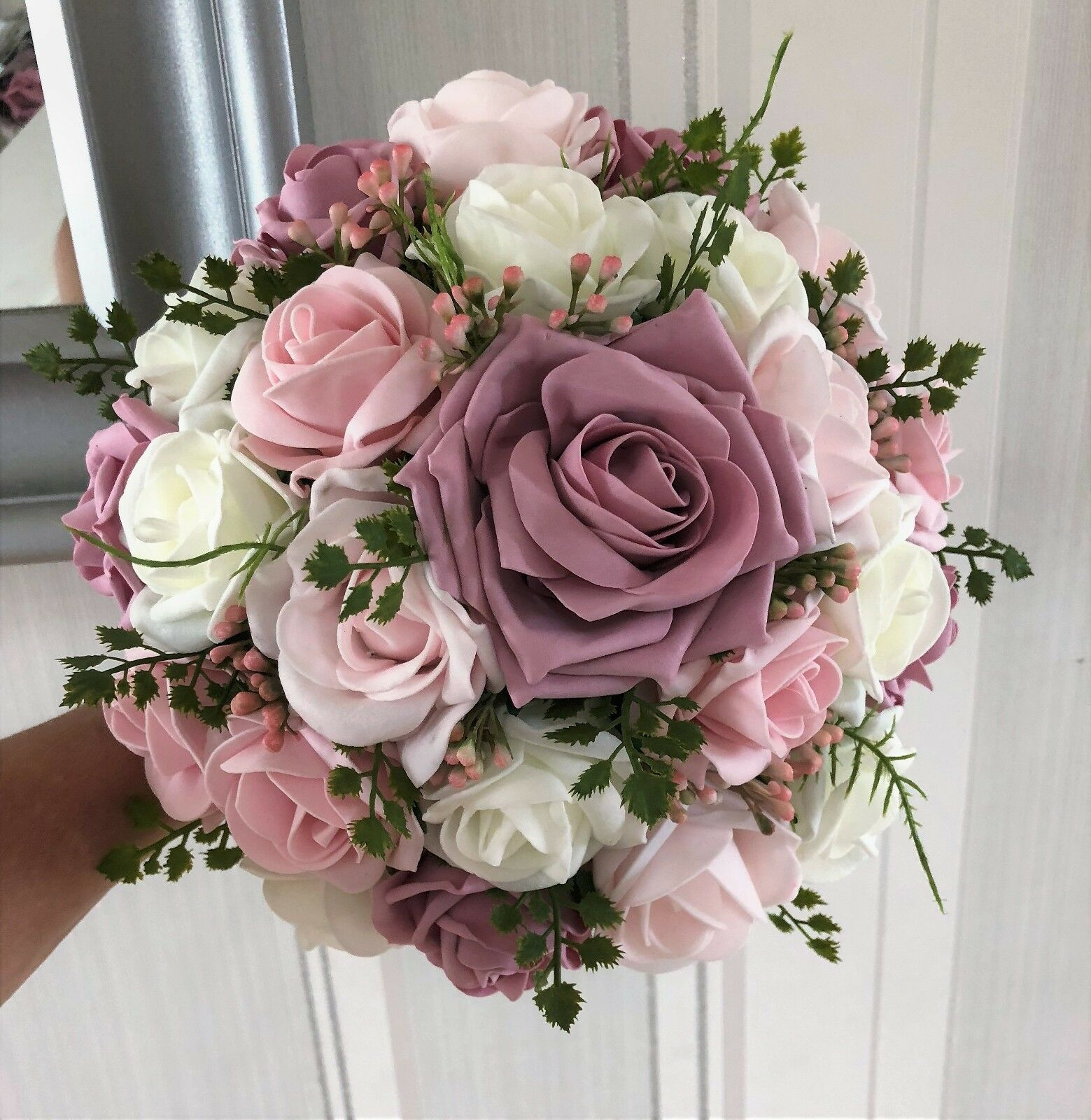 Mariage fleurs ivoire/brun, look rose et bébé rose, verdure look ivoire/brun, naturel 8ef235